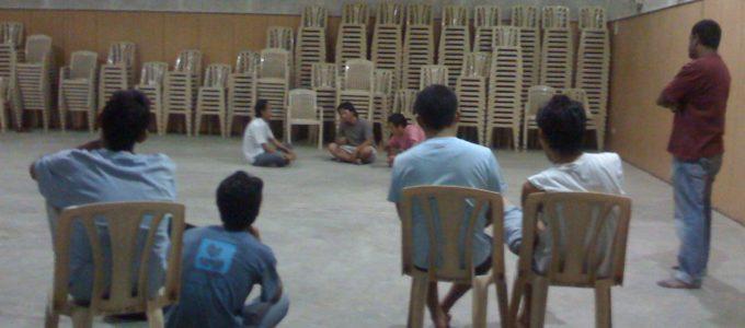 Theatre Workshop at TCV Tibetan Youth Hostel, Bangalore