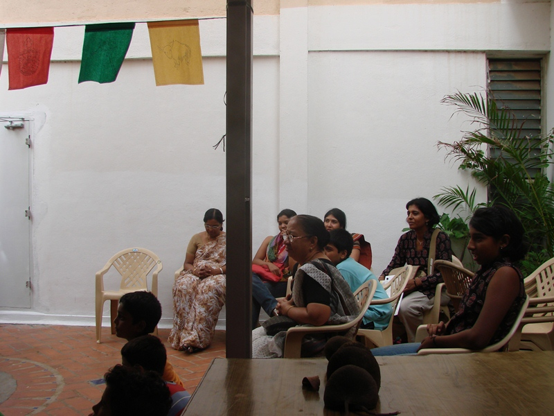 story telling with PATARA was a successful attempt to invite young children to listen to expert story tellers who used a puppet to narrate tales from Tibet. Maps and images were used to illustrate the stories. – thinktibet.org